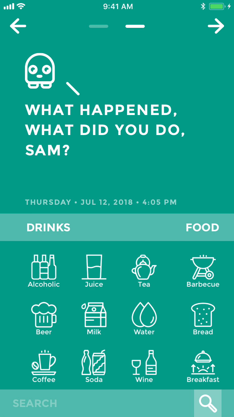 Moodistory - Your Personal Mood Tracker: Events List