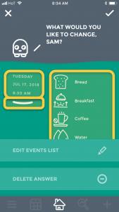 Moodistory App: Edit an entry