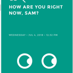 Moodistory App Screenshot /w iPhone: How Are you?