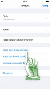 Promo Code einlösen - Karte oder Code einlösen