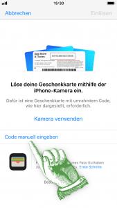 Promo Code einlösen - Code manuell eingeben