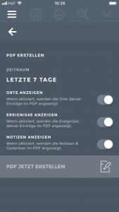PDF Stimmungstagebuch erstellen in Moodistory