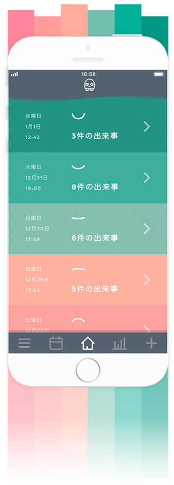 Moodistory Red Green Color Theme (Japanese)