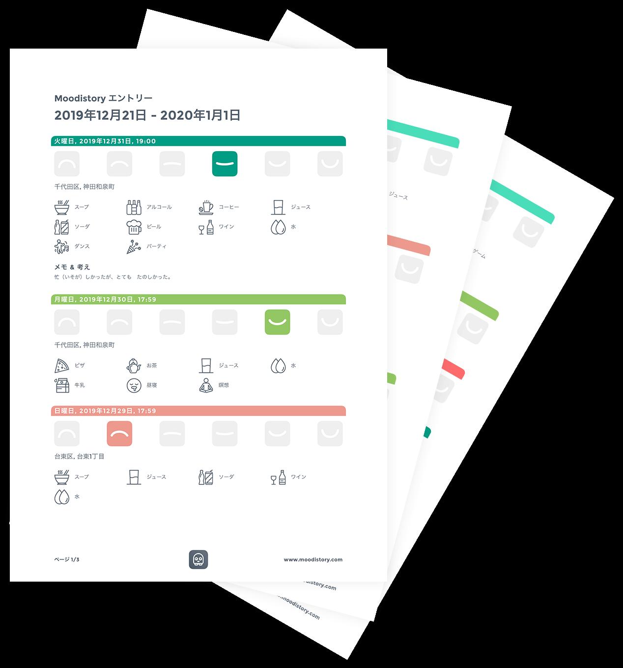 Mood Diary PDF (Japanese)