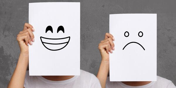 Stimmungskalender Skala von glücklich bis unglücklich