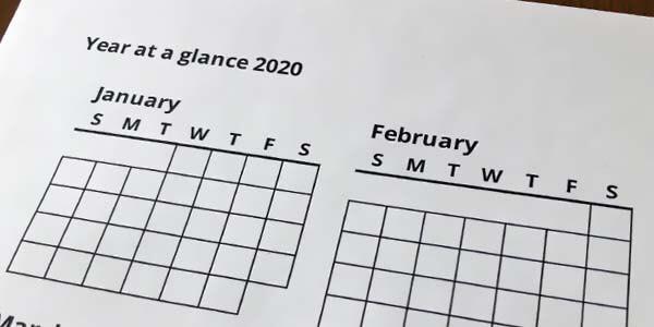 """Stimmungskalender - Vorlage für das """"Jahr auf einen Blick"""""""