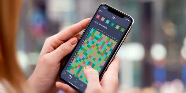 Jahr in Pixel Stimmungskalender App