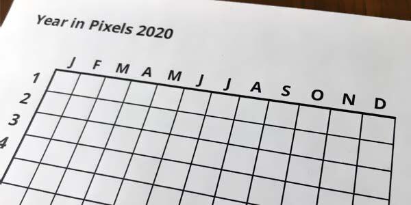 """Stimmungskalender - Vorlage für das """"Jahr in Pixel"""""""