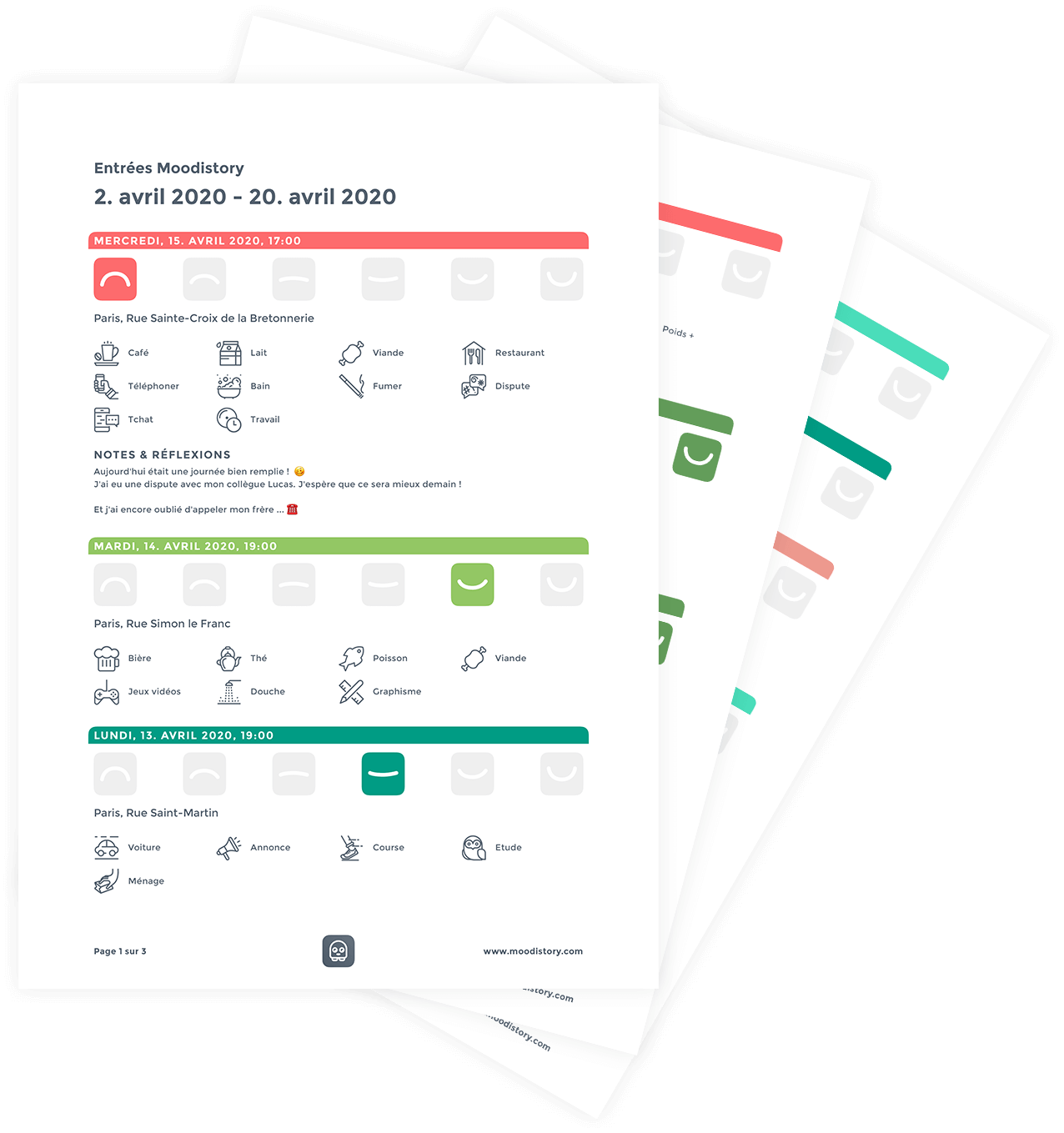 Moodistory : Créer un PDF