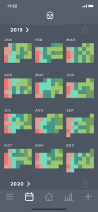 Moodistory App Calendar Yearly View