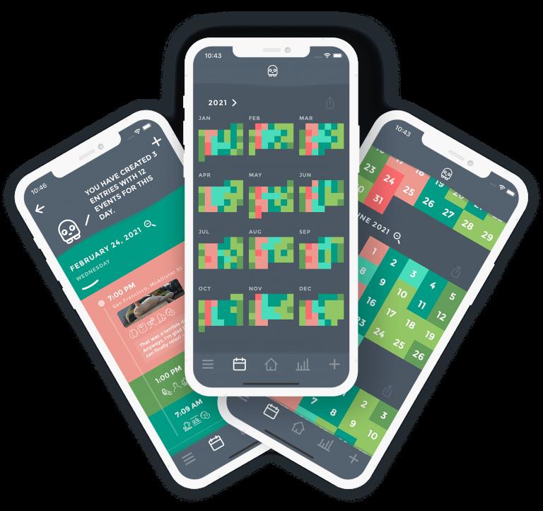 Mood Tracker App Moodistory - Mood Calendar