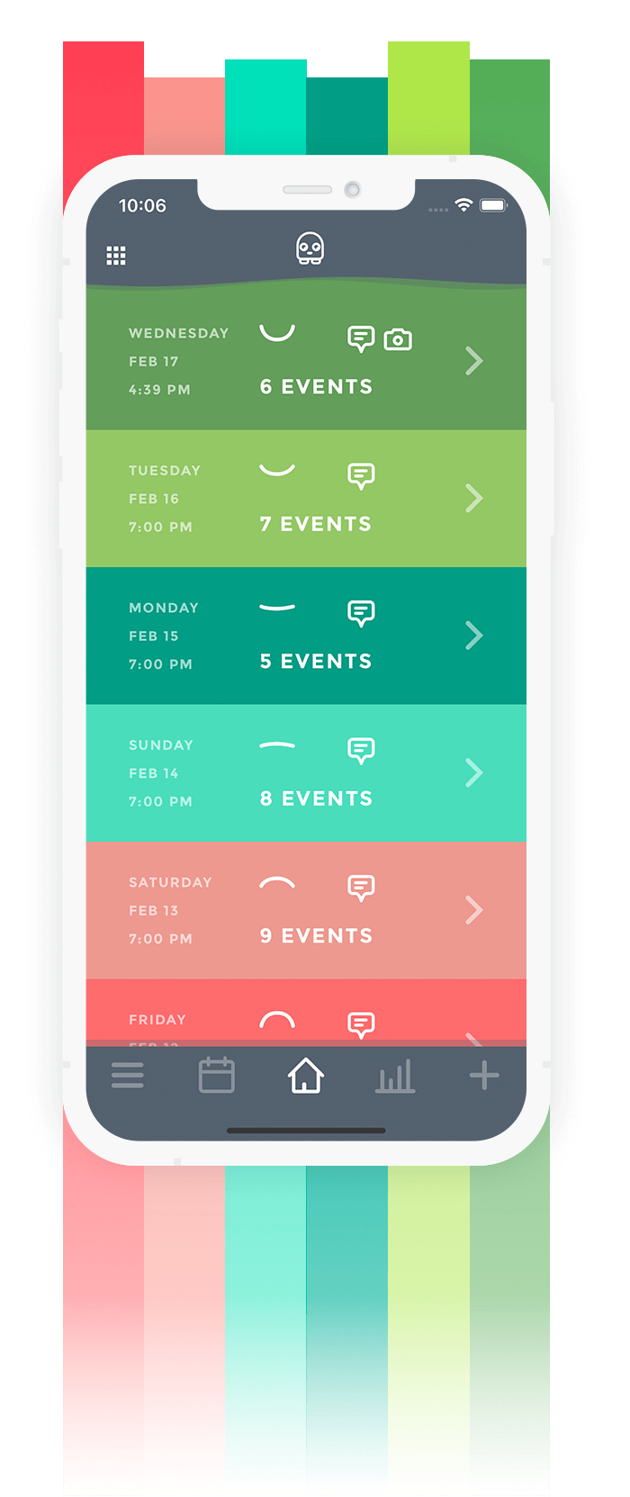 Mood Tracker App Moodistory - Theme Default