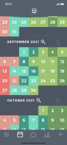 Moodistory - Kalender - Monatsansicht