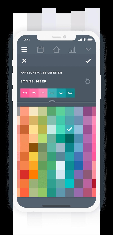Moodistory Farben anpassen