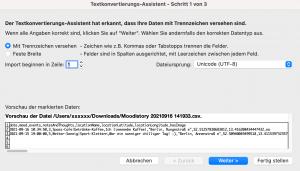 CSV Datei in Excel importieren 1